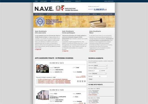 Realizzazione sito web N.A.V.E. (Notai Associati Vendite Esecuzioni) Piacenza
