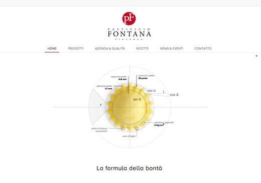 Realizzazione sito web Pastificio Fontana