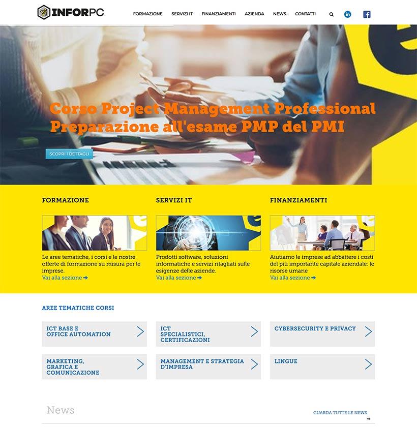 progettazione sito web infor scheda 1