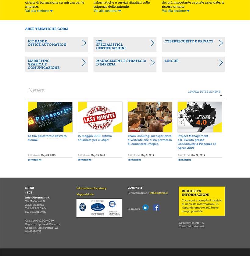 progettazione sito web infor scheda 2