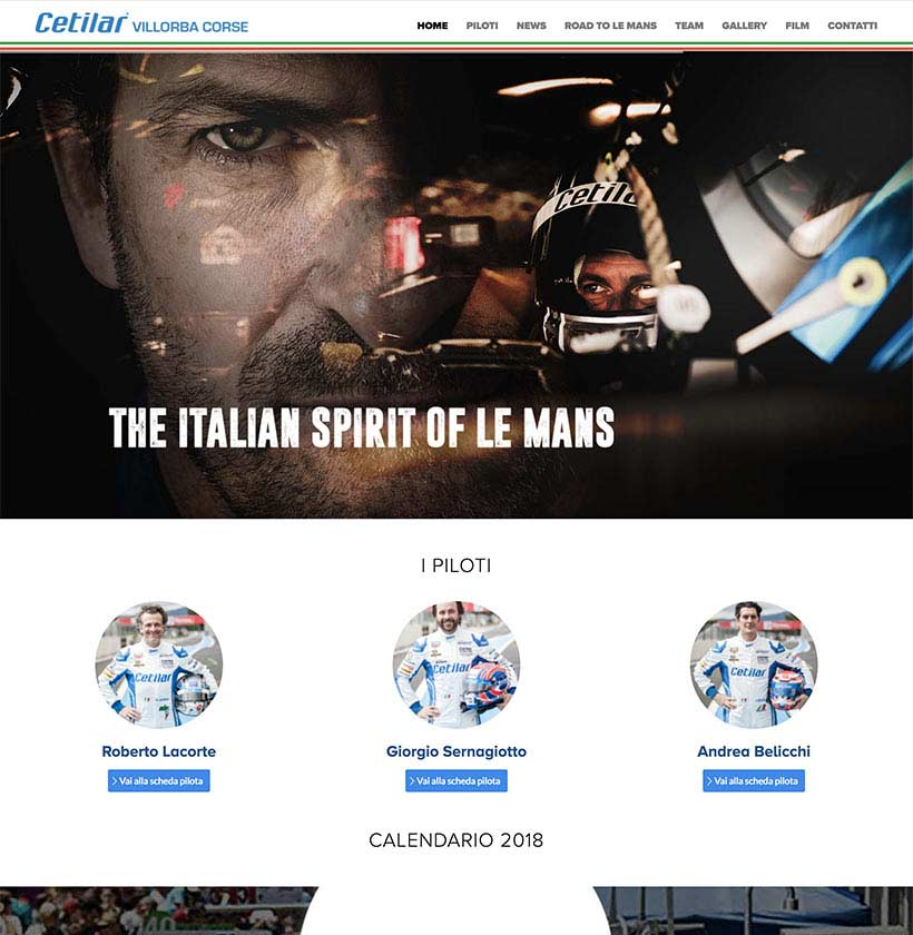 realizzazione sito web cetilar villorba corse home1