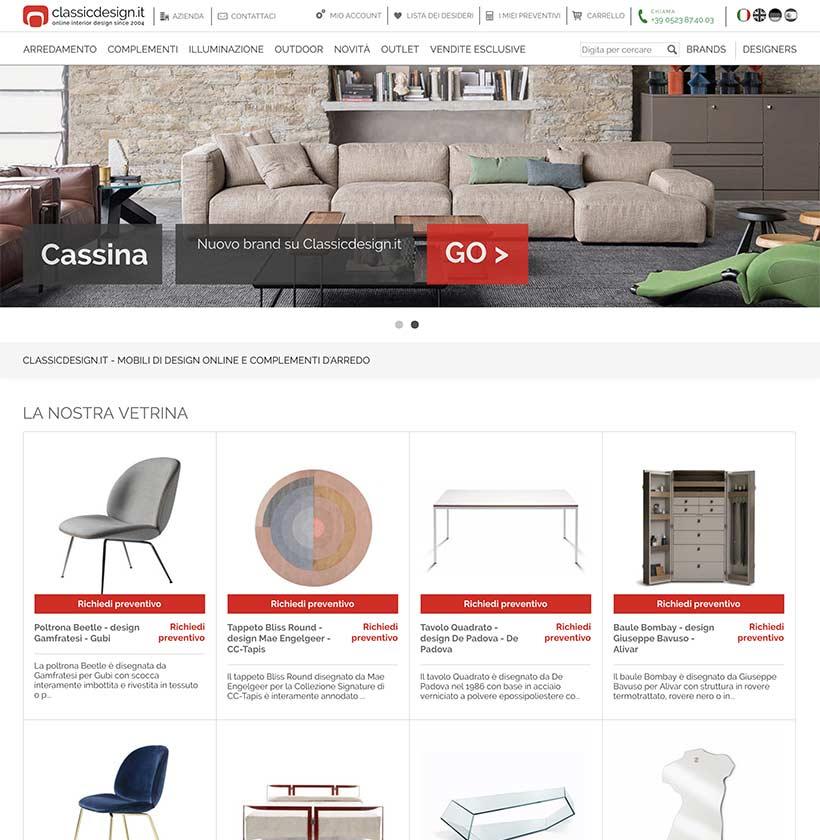 realizzazione sito web classic design home 1