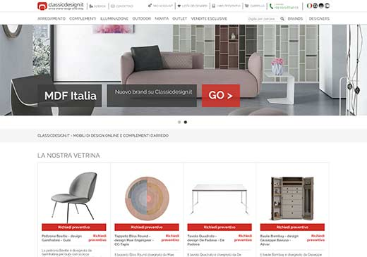 Realizzazione sito web Classic Design