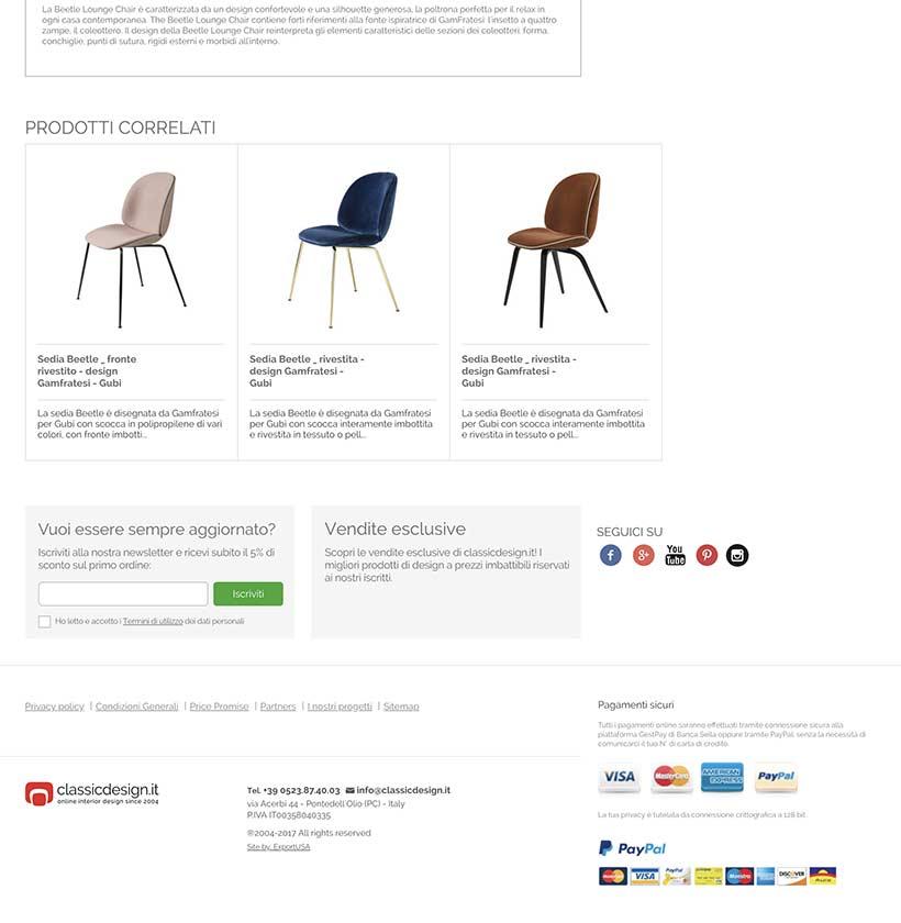 realizzazione sito web classic design scheda prodotto 2