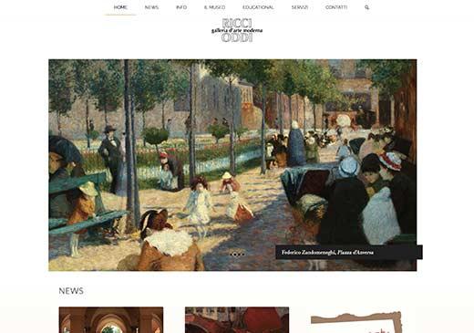 Realizzazione sito web Galleria d'Arte Moderna Ricci Oddi