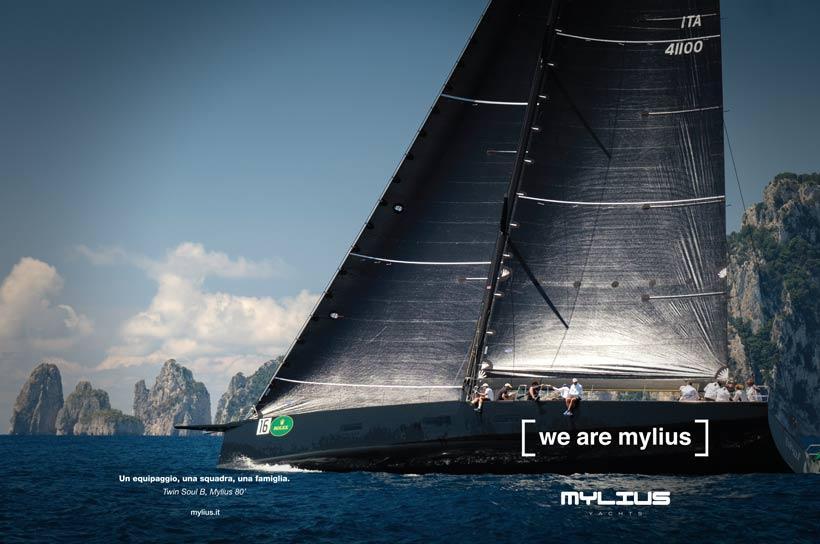Mylius annuncio Giornale della Vela doppia pagina