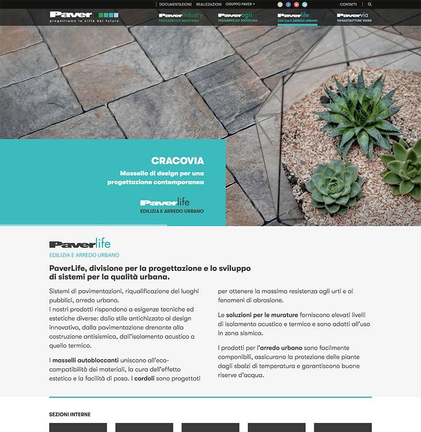 progettazione sito internet gruppo paver sito web scheda 1