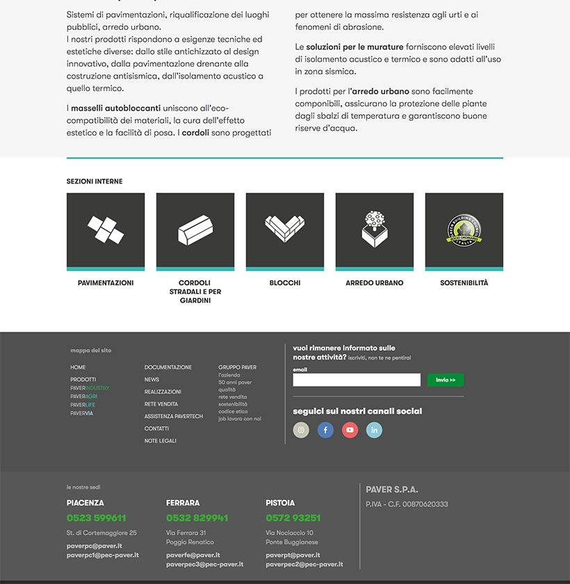 progettazione sito internet gruppo paver sito web scheda 2