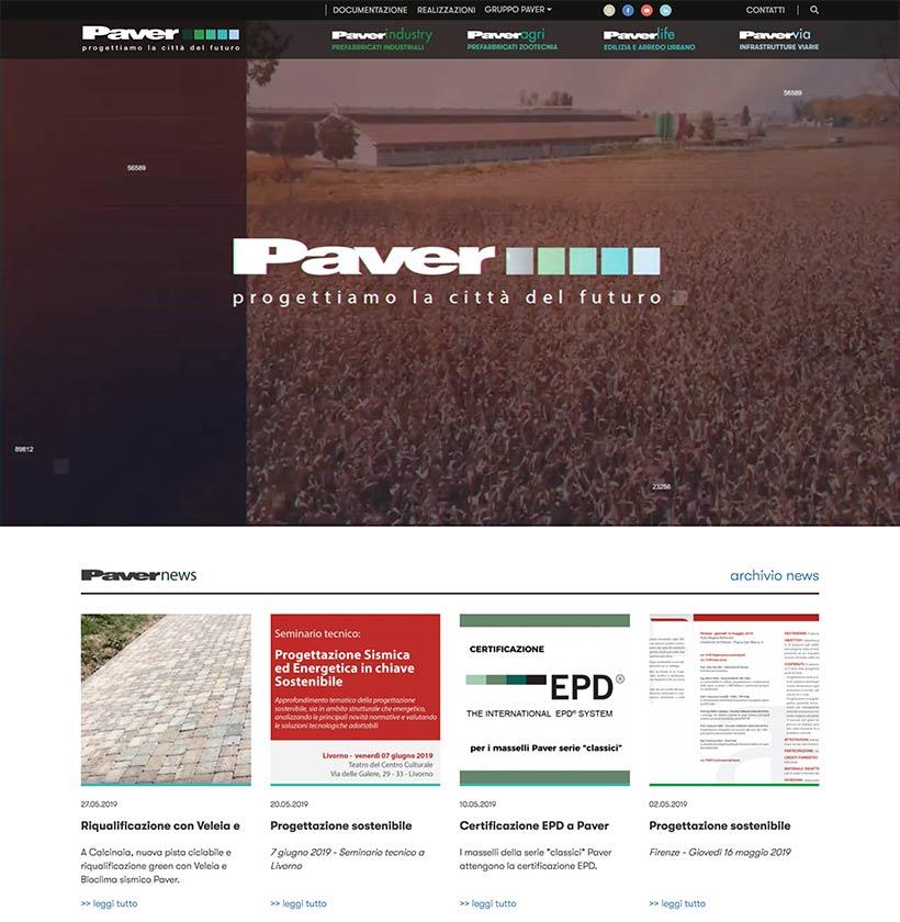 progettazione sito internet gruppo paver sito web scheda 3