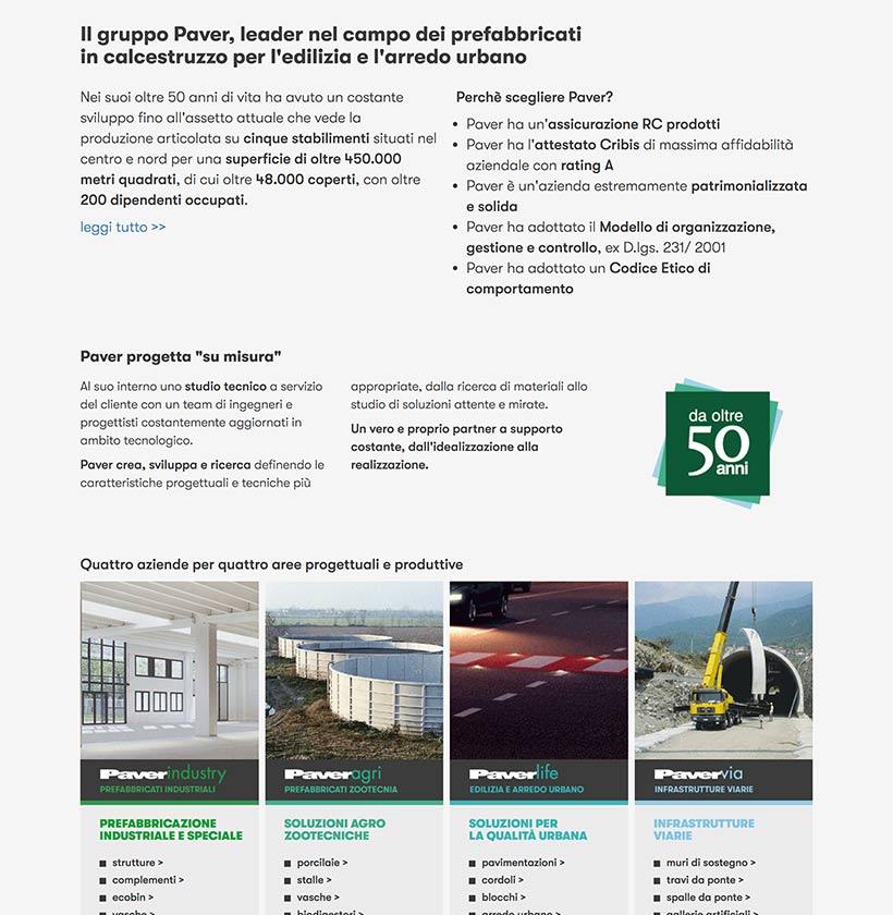 progettazione sito internet gruppo paver sito web scheda 4