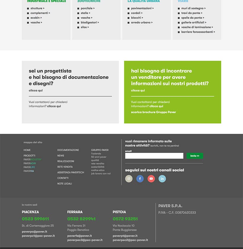 progettazione sito internet gruppo paver sito web scheda 5