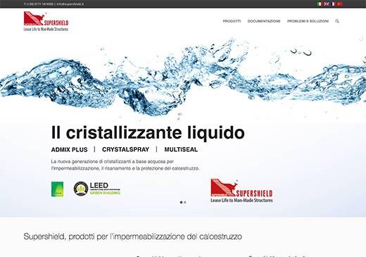 Realizzazione sito web Supershield