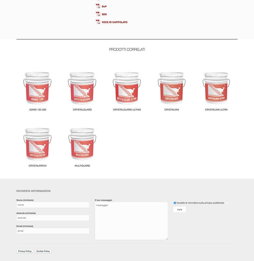 supershield web design scheda prodotto 2