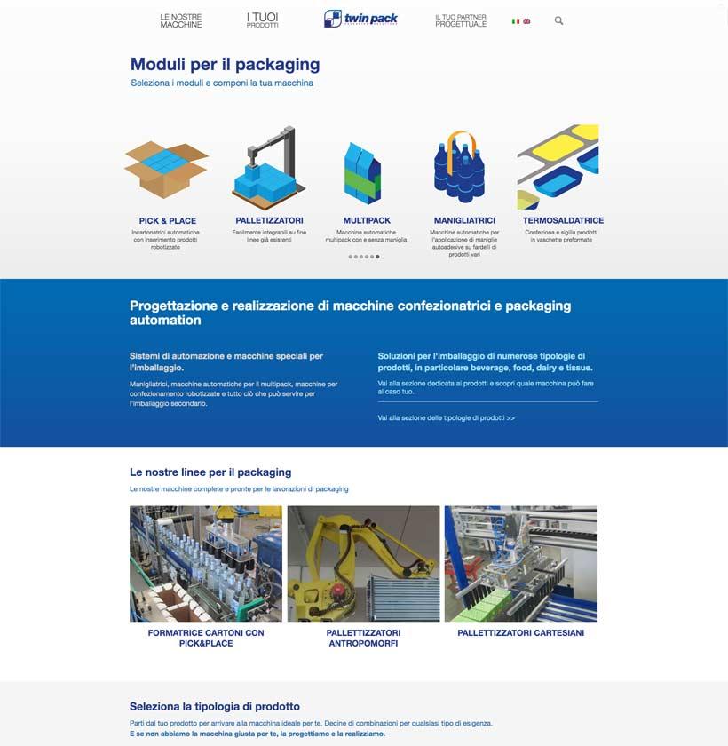 progettazione sito internet twinpack home page 1