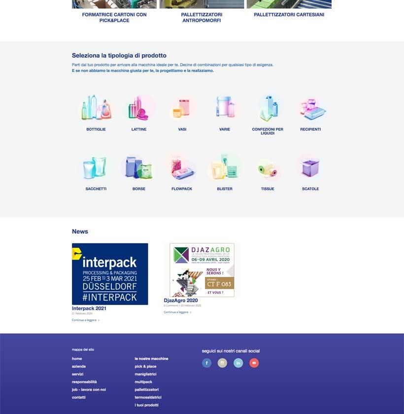 progettazione sito internet twinpack home page 2