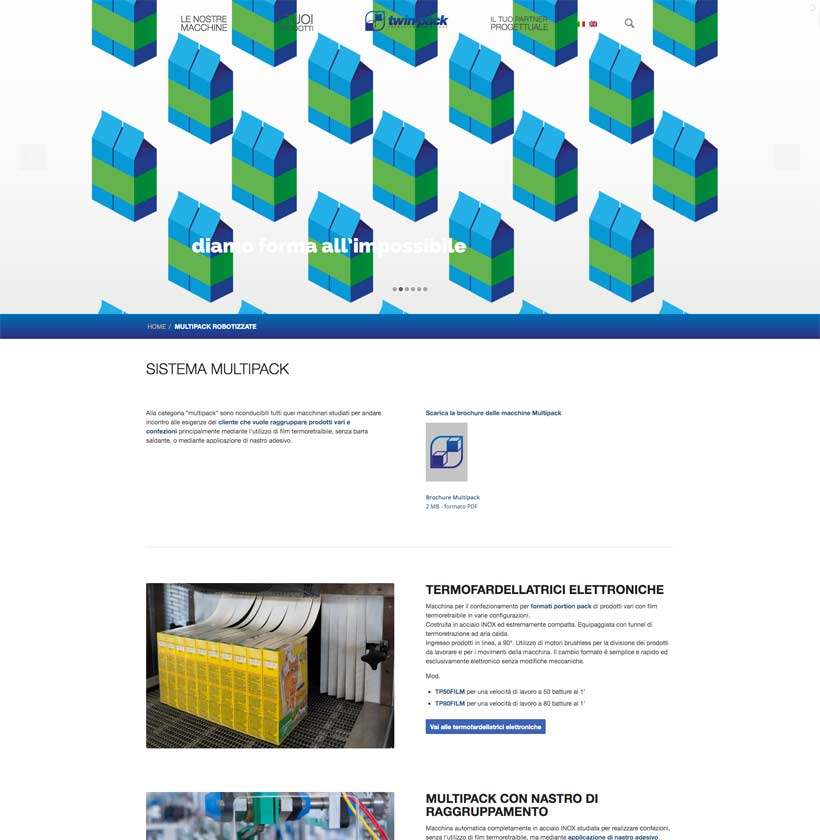progettazione sito internet twinpack sistema multipack