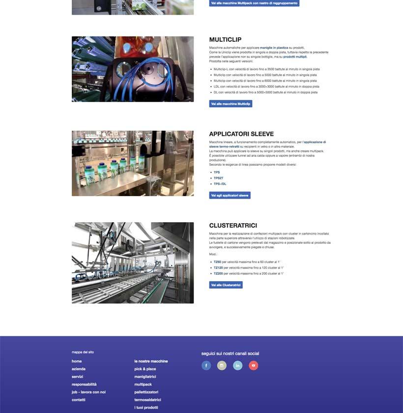 progettazione sito internet twinpack macchine
