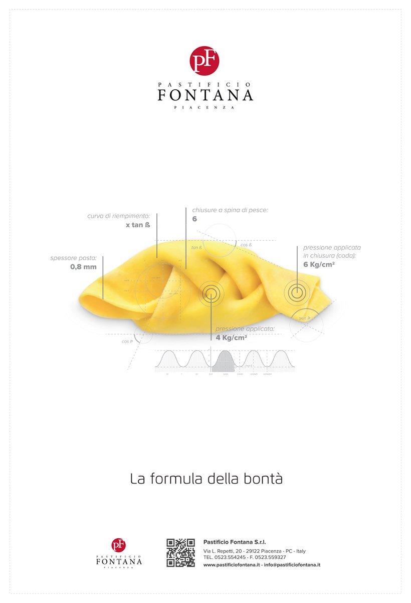Pastificio Fontana annuncio tortello con coda