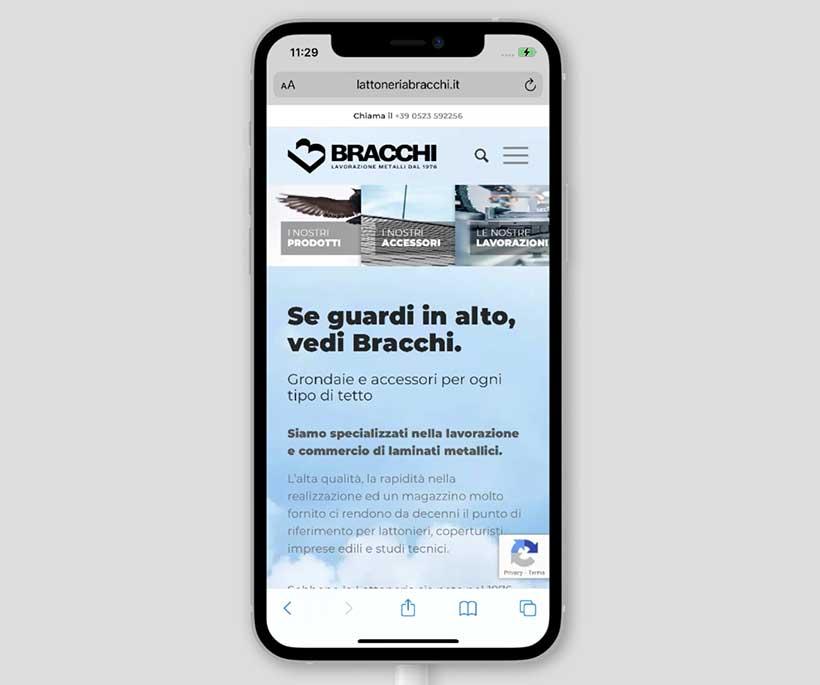 lattoneria bracchi home page mobile