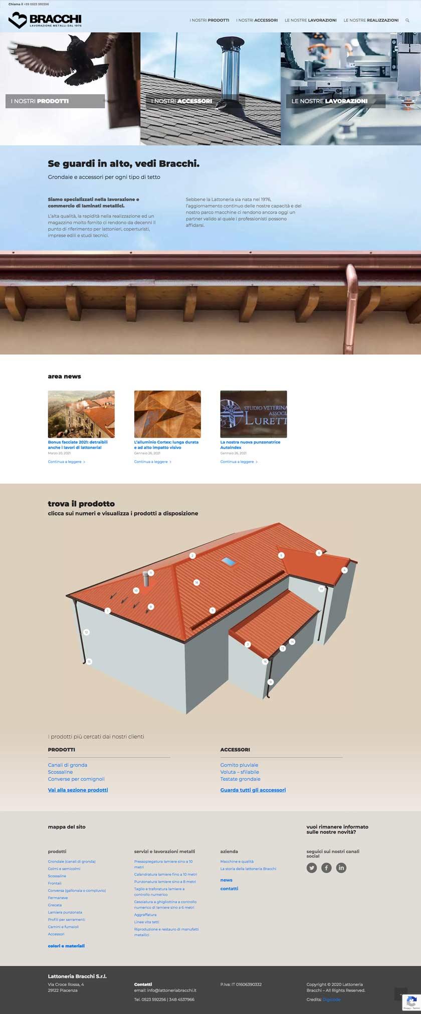 lattoneriabracchi it home sito responsive desktop