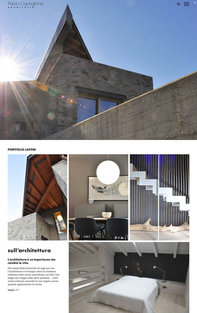 paolo capriglione sito web home 1