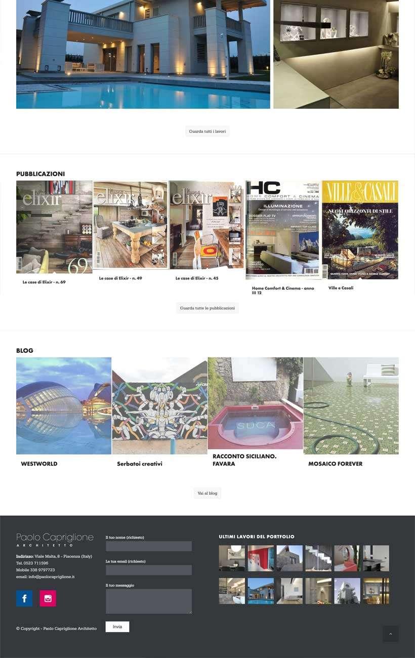 paolo capriglione sito web home 3