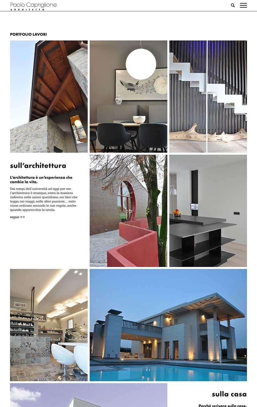 paolo capriglione sito web portfolio 1