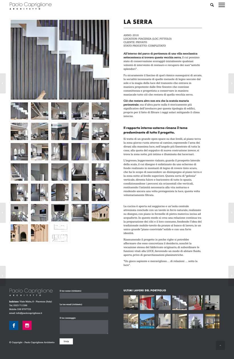 paolo capriglione sito web scheda lavoro