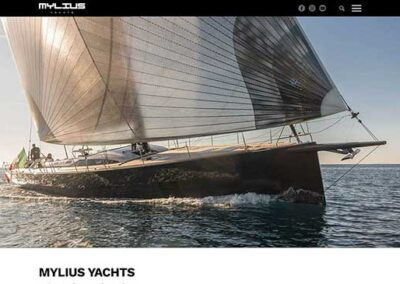Redesign sito web Mylius Yachts