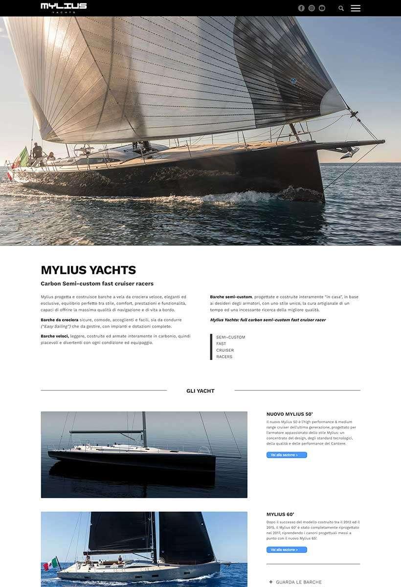sito web mylius home page 1
