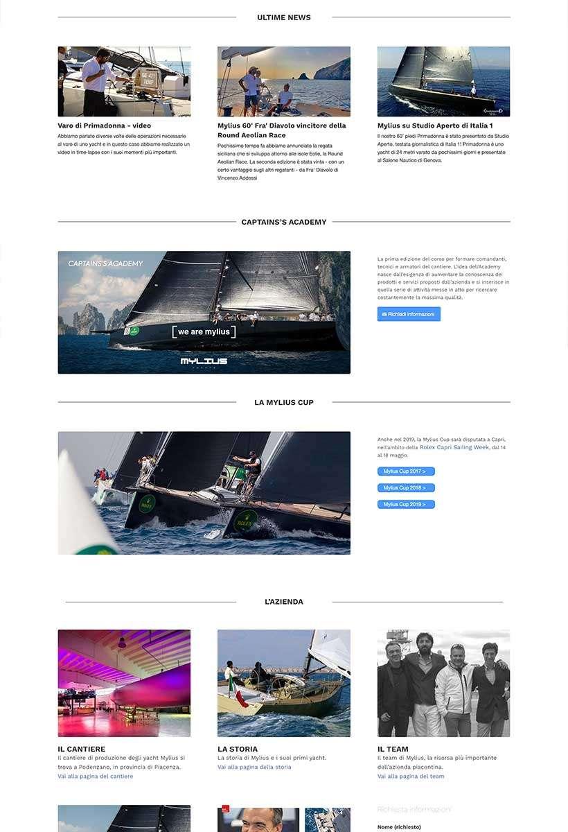 sito web mylius home page 3