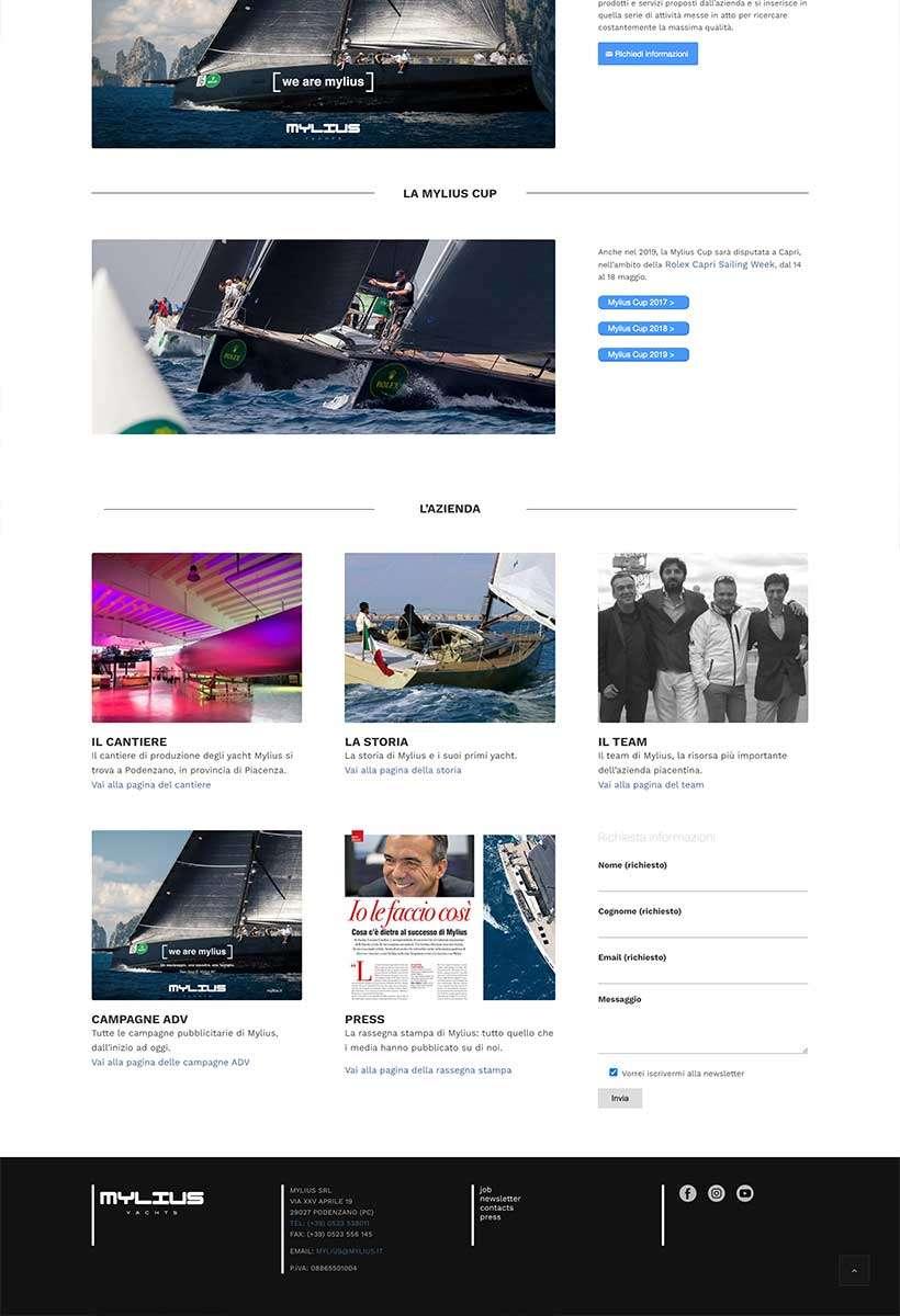 sito web mylius home page 4