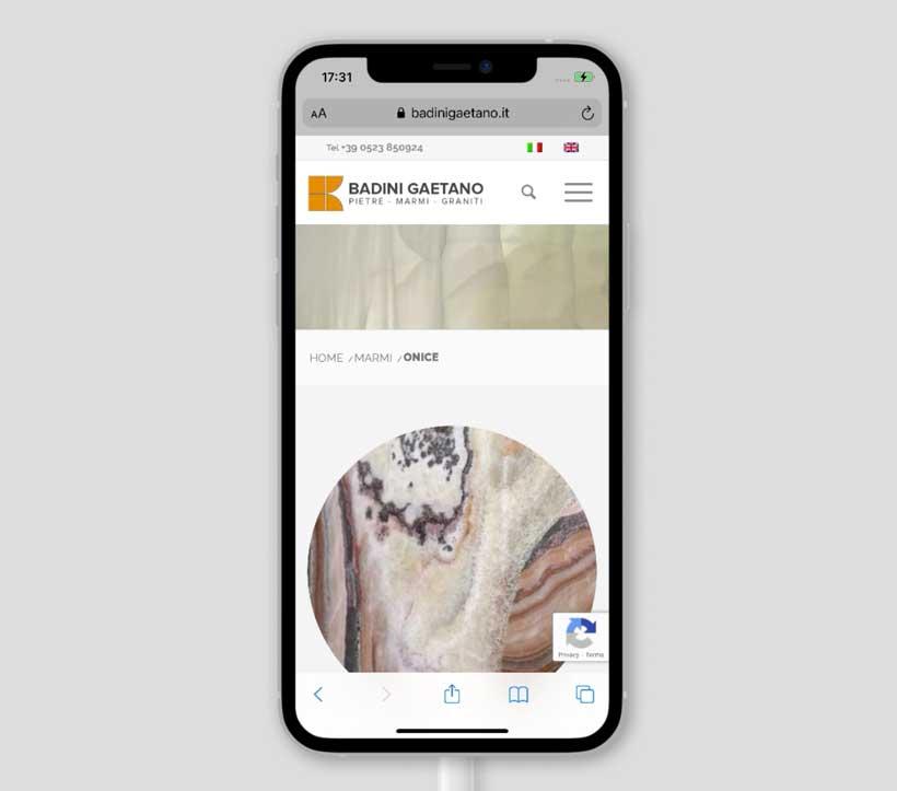 sito web responsive badini gaetano mobile scheda
