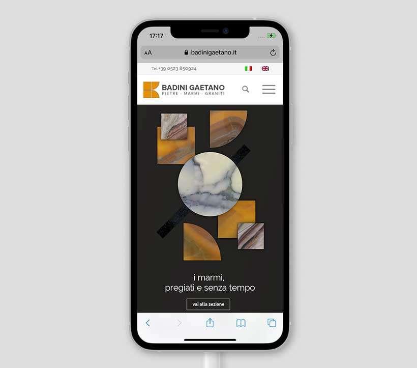 sito web responsive badini gaetano mobile