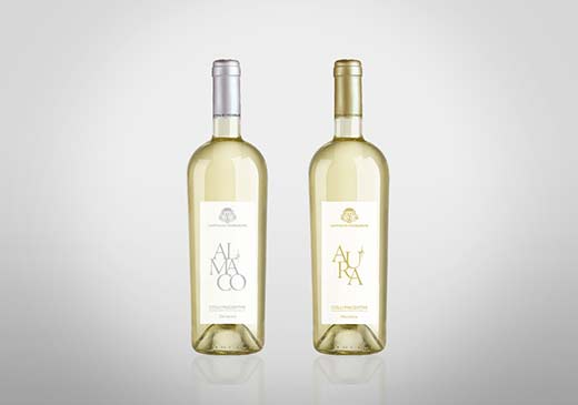 Etichette bottiglie della Cantina di Vicobarone