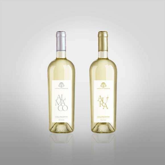 etichette bottiglie cantina di vicobarone Almaco-Aura