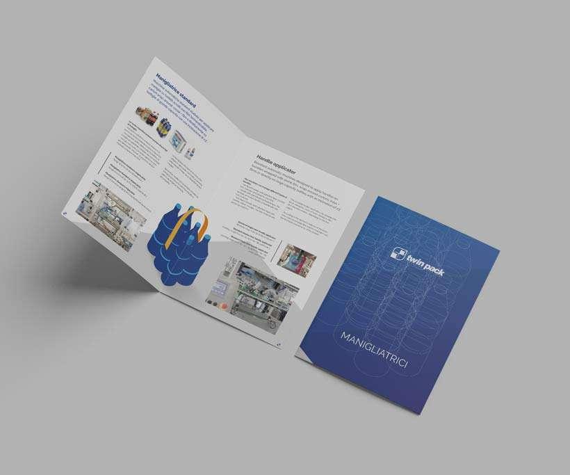 progettazione brochure twinpack manigliatrici interno