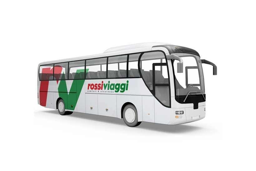 realizzazione logo Rossi Viaggi autobus