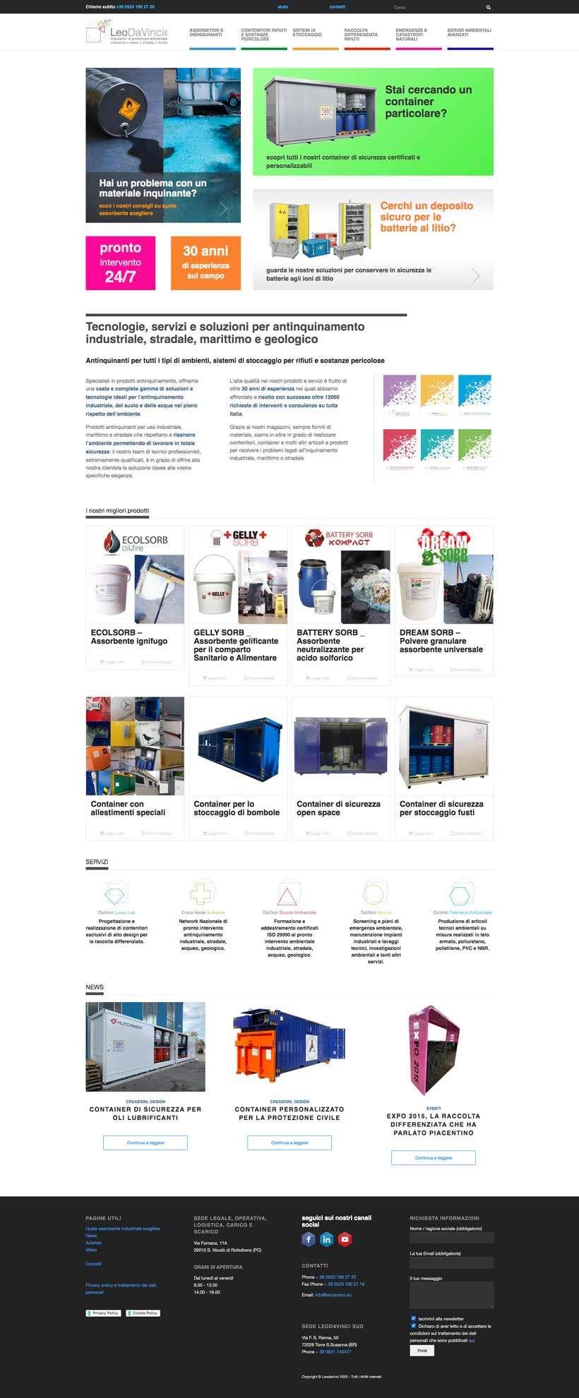 redesign home page sito web leodavinci